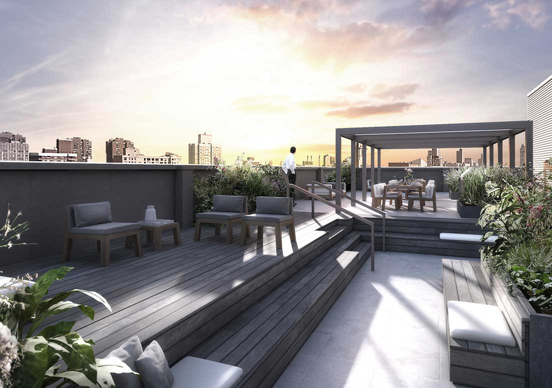 Nyc penthouses for sale in nomad district 404 park - How to build an outdoor kitchen a practical terrace ...