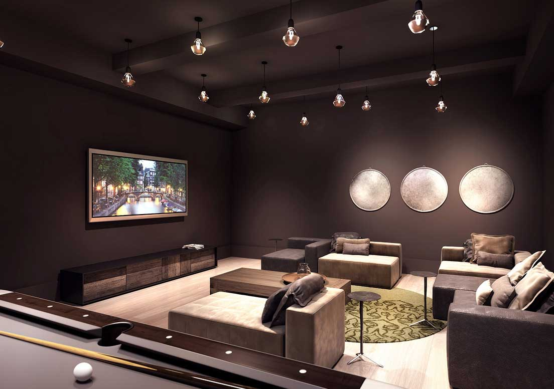 Luxury Gramercy Penthouses for Sale, Media Lounge