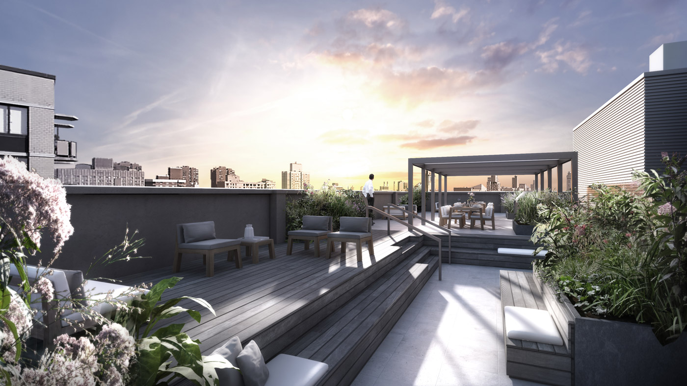 Luxury NoMad District Penthouses in NYC, Roof Terrace