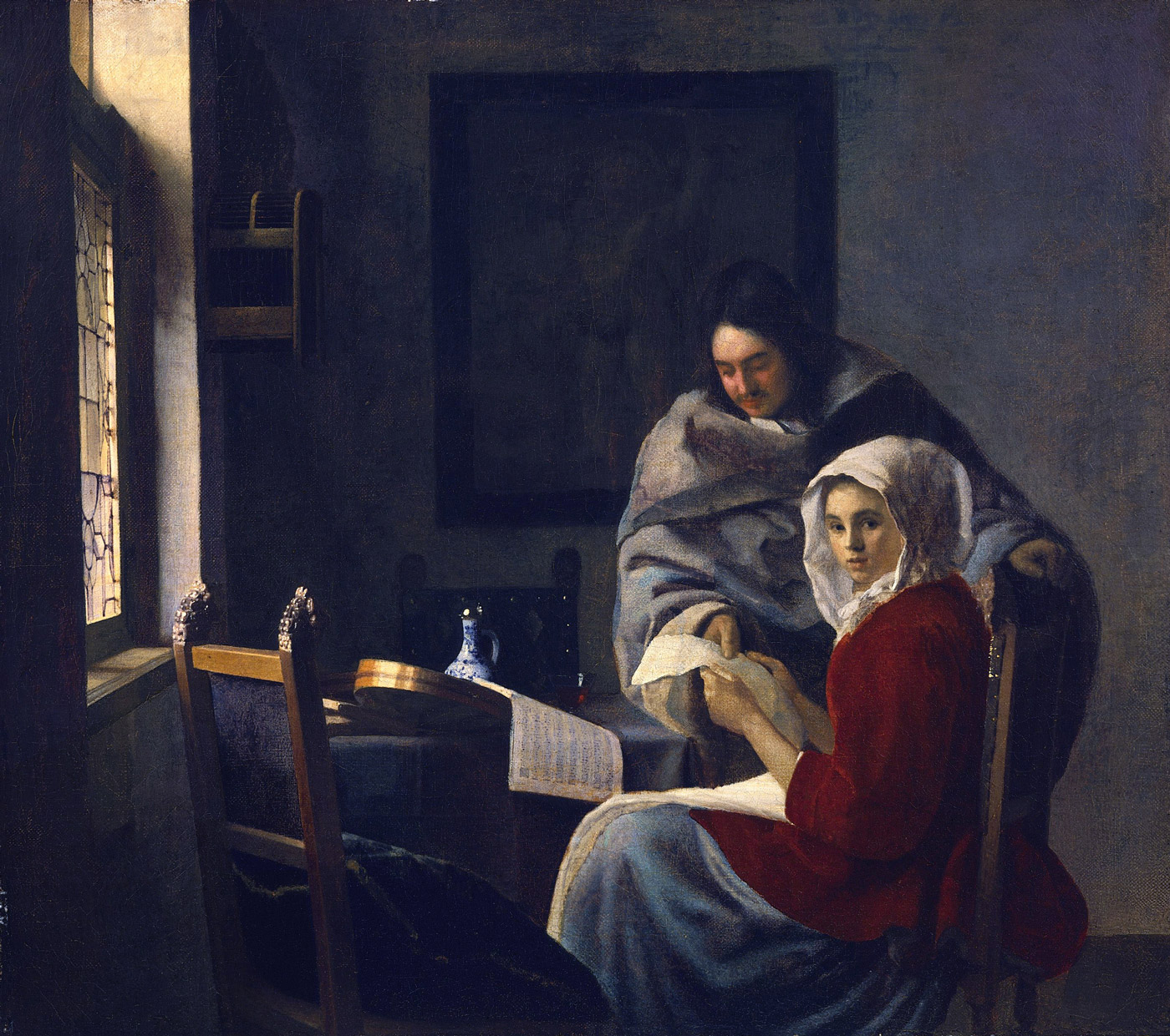 Dutch light as captured by Johannes Vermeer: Girl Interrupted in her Music, (1660 - 1661)